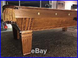 Antique Billiards Snooker Pool Table Brunswick Wellington