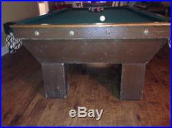 Antique Brunswick 1915 pool table