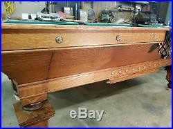 Antique Brunswick Balke Collender 8' Pool Table Restored Southern