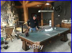 Antique Brunswick Balke Collender 9' Kling Pool Table Circassian Walnut