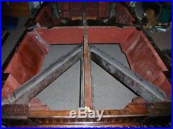 Antique Brunswick Balke Collender 9' Union League Pool Table and Accessories