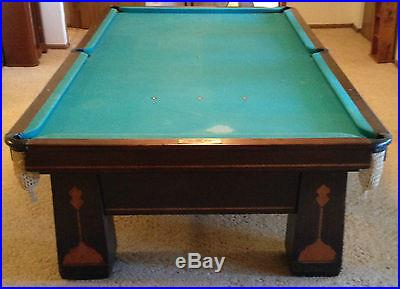 Antique Brunswick Balke Collender Billiards Pool Snooker Table