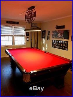 Antique Brunswick-Balke Collender Co. Oak Pool Table, Monarch Cushions
