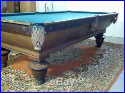 Antique Brunswick-Balke-Collender Co Pool Table