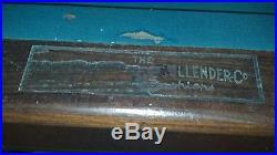Antique Brunswick-Balke-Collender Kling 10' Pool Table