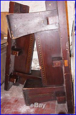 Antique Brunswick Balke Collender Kling pool or billiards table 6 leg mahogany