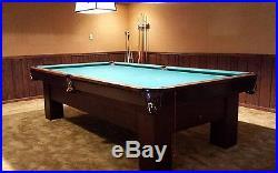 Antique Brunswick Balke Collender Madison 9' Snooker Pool Table Billiards