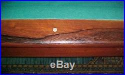 Antique Brunswick-Balke-Collender Mahogany & Rosewood REGINA Pool Table Billiard