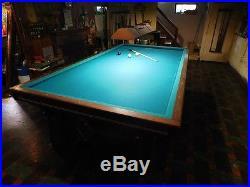 Antique Brunswick Balke Collender Pool Table Monarch Cushions 10 Ft, Kling