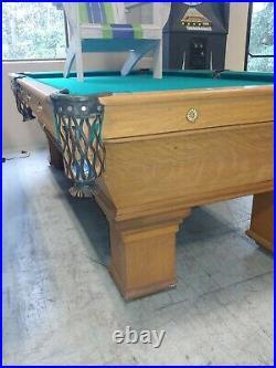 Antique Brunswick Balke & Collender Pro 8' Pool Table