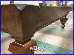 Antique Brunswick Billiards 8' Pool Table