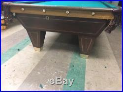 Antique Brunswick Billiards 9' Pool Table YMCA Special