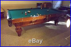 Antique Brunswick Billiards Manhattan Pool Table
