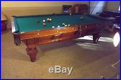 Billiards Tables Antique - Brunswick manhattan pool table