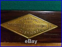 Antique Brunswick Billiards Pool Table Non Pariel