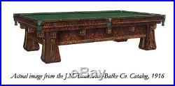 Antique Brunswick Four-Legged Kling Table #6254