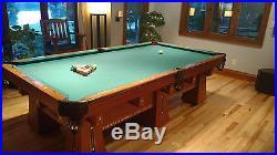 Antique Brunswick KLING Pool Table