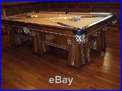 Charmant Antique Brunswick KLING Pool Table