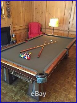 Antique Brunswick Kling Billiard Pool Table