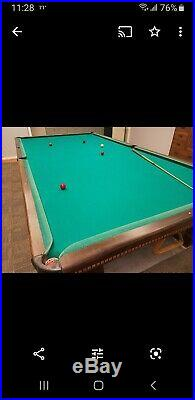 Antique Brunswick Medalist Snooker Table 6x12, Made 1923