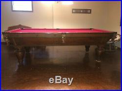 Antique Brunswick Narragansett Pool Table