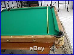 Antique Brunswick Pool Room 1906 Wellington Table