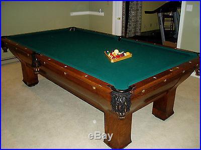 Antique Brunswick Pool Table
