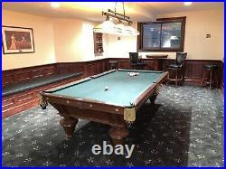 Antique Brunswick Pool Table Narragansett Model Fully Restored