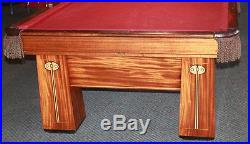 Antique Brunswick Regina Pool Billiards Table 9' Amazing Condition