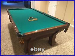 Antique Brunswick Rochester billiards pool table