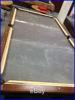 Antique Brunswick Sterling 9' Pool Table Steel Construction