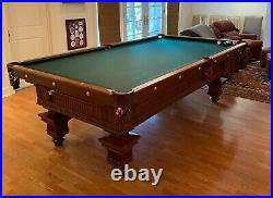 Antique Brunswick jewel pool table circa 1865