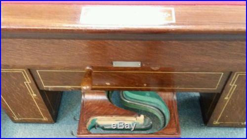 Antique Brunswick richelieu billiard table