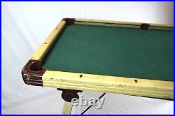 Antique Burrowes Miniature Portable Billiards Pool Table