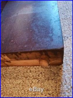 Antique HJ SULLIVAN 3PC SLATE POOL TABLE 8FT BILLIARDS The Madison