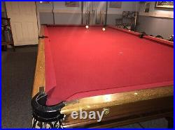Antique H. J. Sulivan Pool Table This Is Actually A Brunswick Table