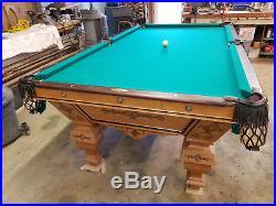 Antique J M Brunswick Balke 8' pool table restored 1880's Eclipse