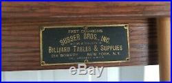 Antique Mission Oak billiard pool table 1895-1905