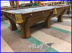 Antique Oak Pool Table - Brunswick, Balke, Collender Co. ROCHESTER circa 1908