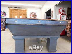 Antique Passow 4 1/2 X 9 Brunswick Golden Oak Wellington Billiards Pool Table