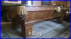 Antique Pool Table 1898 Brunswick Wellington