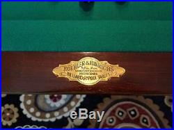 Antique Pool Table 8' Victorian Oak RARE Manufacturer Koehler and Hinrichs