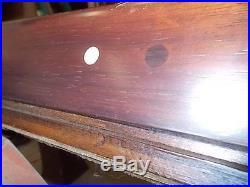 Antique Pool Table B B C 9' Mahogany Rochester