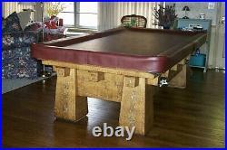 Antique Pool Table. Brunswick Collender Baulke. 1918