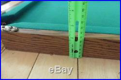 Antique Pool Table Mini Billiards toy Vintage with legs & balls apx 36 x 19.5