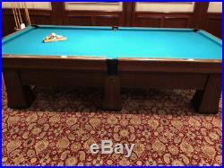 Antique Pool Table Regent Brunswick Balke-Collender Co. Monarch Cushions