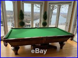 Antique Pool Table The Brunswick-Balke Collender Co