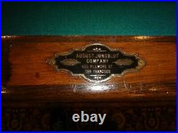 Antique Pool Table with Center Ball Return $1500