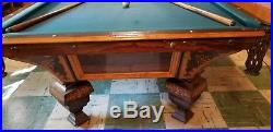 Antique / Vintage 1878 Brunswick Nonpareil 9' Pool table (Antique Balls incl.)