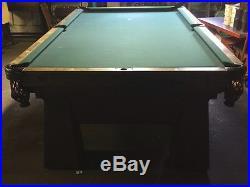 Antique Vintage Albert Pick Steel Pool Table 3 Piece Slate Subway System